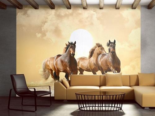 hästtapet bruna hästar